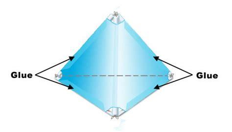 tetrahedron kite template tetrahedral kites