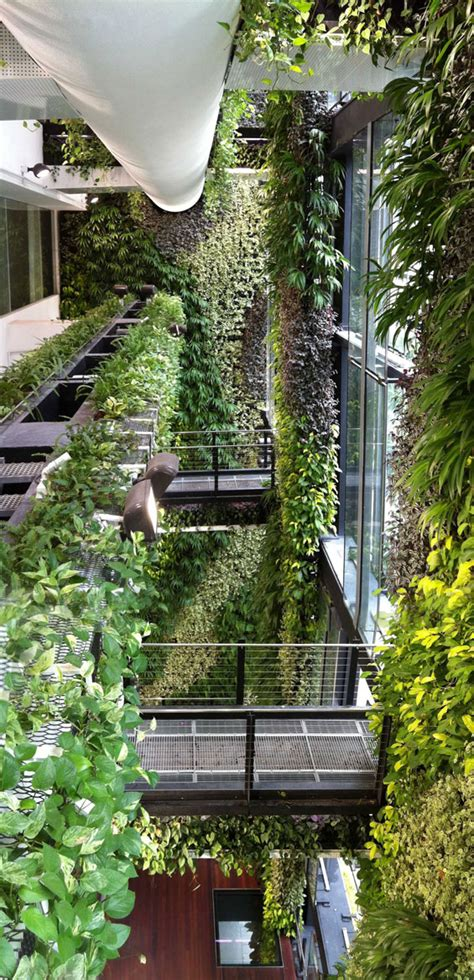 An Unexpected Hanging Garden Singapore Agfacadesign Hanging Wall Garden Design