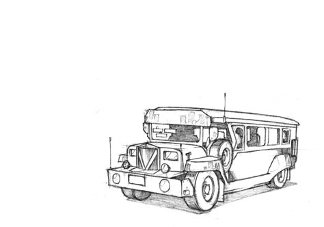 philippine jeep drawing jeepney by danielsingzon on deviantart