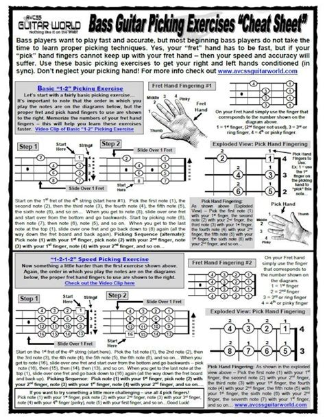 guitar picking mechanics techniques exercises for increasing your accuracy speed comfort book audio books bass guitar picking exercises sheet avcss guitar