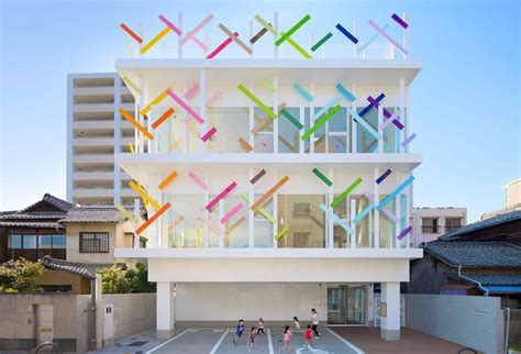 How To Design Software Architecture colorful branches cover this new kindergarten building