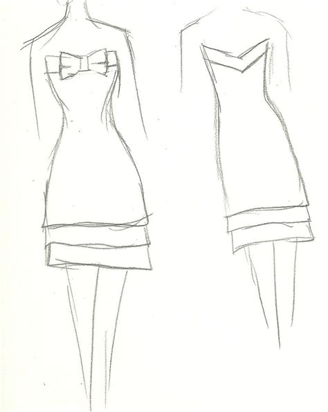 simple dress coloring page simple dress with bow 2 by yukiko design on deviantart
