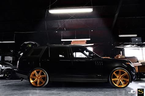 black and gold range rover chris brown s range rover on savini forged sv58 wheels