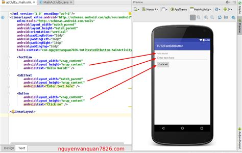 android place button next to edittext on the same line lập tr 236 nh android b 224 i 2 textview edittext button