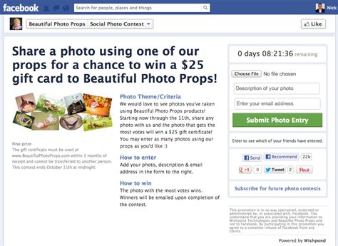 Giveaway Apps For Facebook - 5 sure fire facebook contest ideas