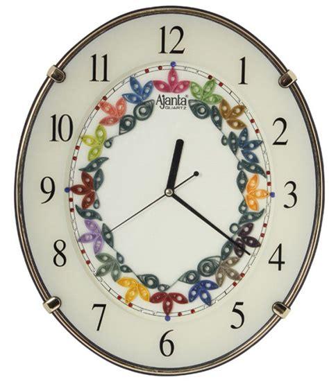 designer clock ajanta flower designer wall clock a ivory buy ajanta
