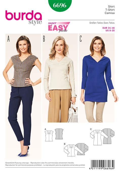 pattern review best patterns 2015 burda 6696 misses tops