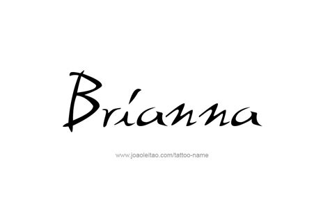brianna tattoo designs name designs
