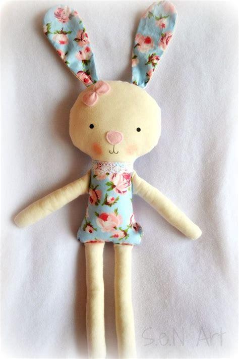 Handmade Fabric Toys - soft doll bunny handmade ballerina doll bunny fabric by