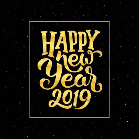 happy  year  vector greeting card design vector premium