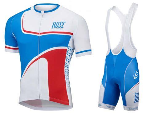 2016 retro blue white jersey and bib shorts set