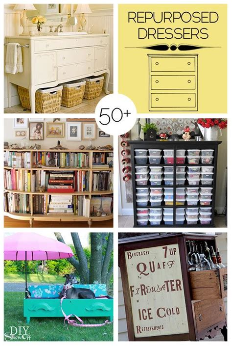 diy repurposed furniture stroovi 50 ways to repurpose old dressers diy homedecor