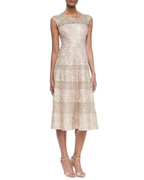 lace sleeveless cocktail dress unger sleeveless lace tea length cocktail dress in