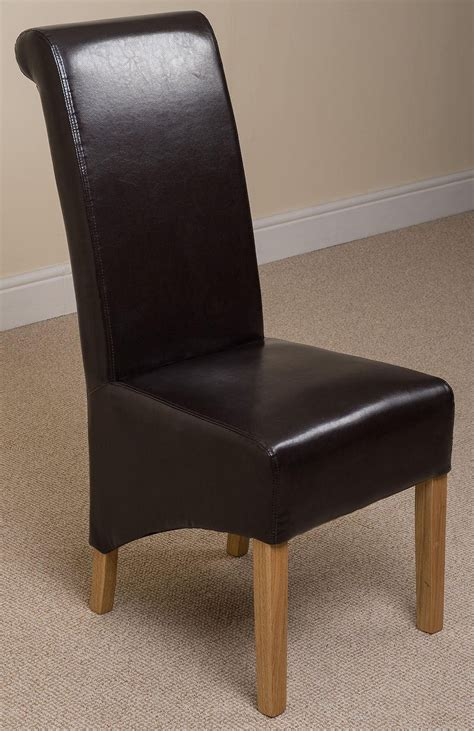 montana dining chair brown leather modern furniture direct