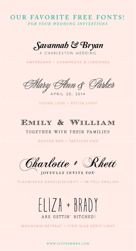 Fonts For Wedding Invitations