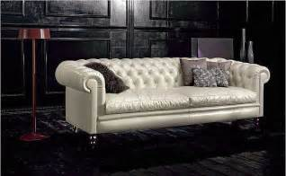 Sofa Chesterfield Blanc Noir Maybe A Chesterfield