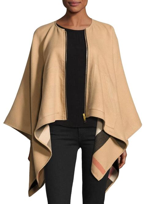 Burberry Original Singapore Os burberry camel new merino zip front reversible poncho cape size os one size tradesy