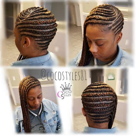 side swoop cornrolls braids whether its cornrows box braids long short feed in