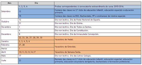Calendario Xunta Calendario Escolar 2016 2017 Conseller 237 A De Cultura