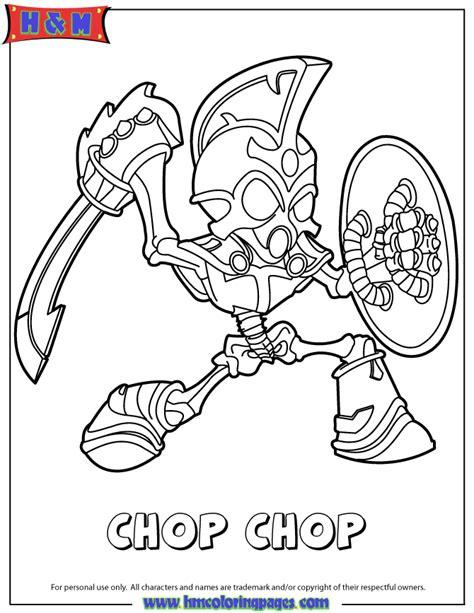 Skylanders Spyros Adventure Undead Series1 Chop Chop Skylander Coloring Page
