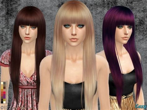 sims 4 hair the sims resource izzy female hairstyle by cazy sims