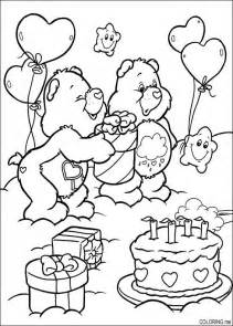 coloring page care bears birthday cake coloring me