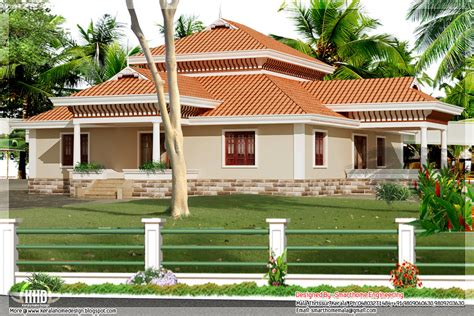 designs of single story homes bedroom kerala style