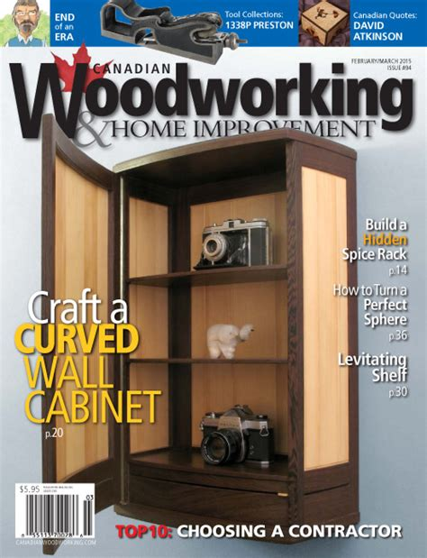 canadian woodworking home improvement february march