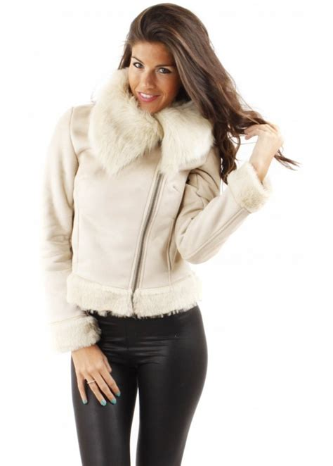 Cropped Fur Jackets by Urbancode Urbancode Faux Fur Cropped Jacket Faux Fur