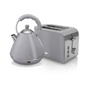 Toaster Kettle Sets Swan Retro Kettle And 2 Slice Toaster Set Grey Kettle