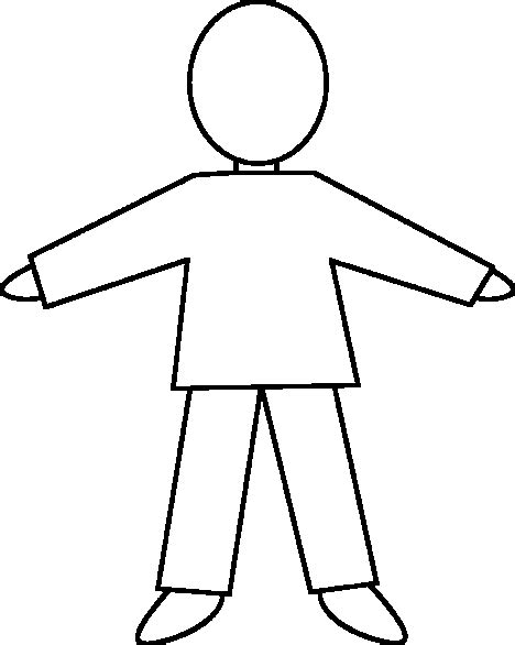 person template preschool blank human outline anatomy clipart best