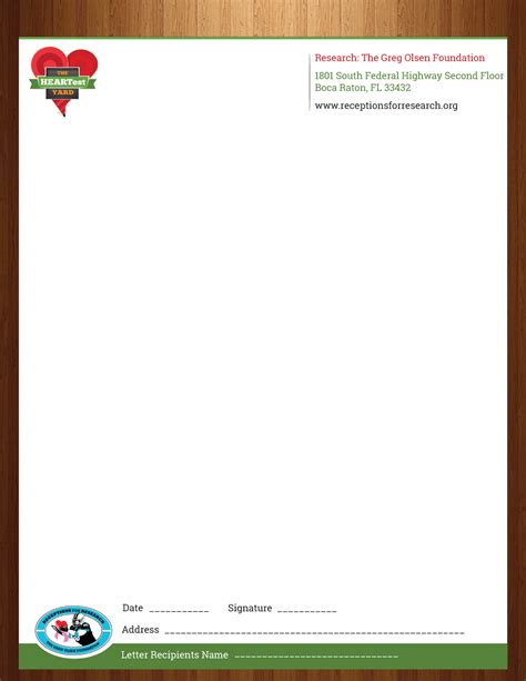 letterhead for charity letterhead design for kristen mccullough by harmi 199