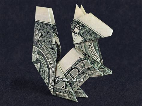 Money Origami Uk - money origami squirrel dollar bill made with 1 00