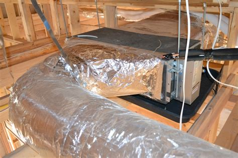 Mitsubishi Ducted Mini Split System What Do Ducted Mini Splits Look Like Home Energy Pros