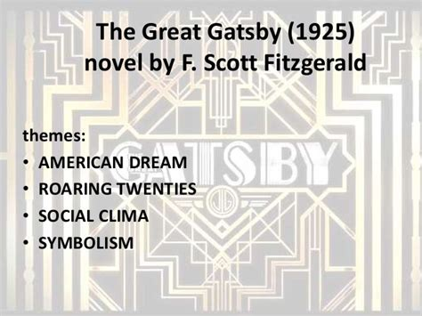 theme of society in the great gatsby the great gatsby