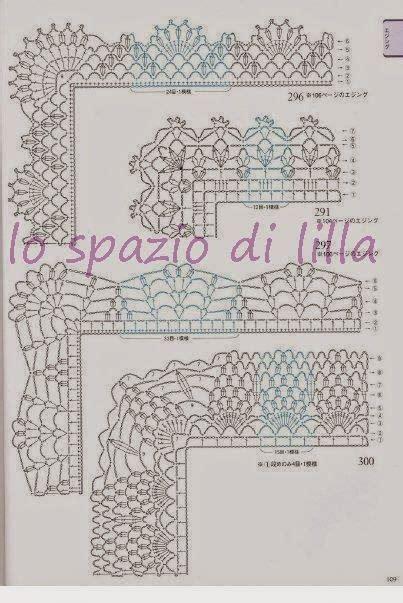 cornici sciarpe lo spazio di lilla schemi di bordi crochet con angoli
