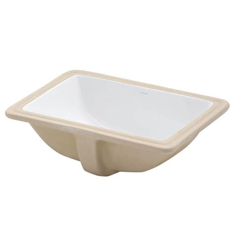 rectangular undermount sink bathroom decolav classically redefined rectangular undermount