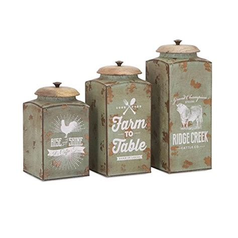 Glass Canister Set For Kitchen Farmhouse Kitchen Canister Sets And Farmhouse Decor Ideas