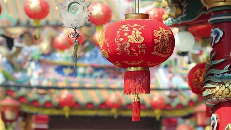 new year lantern day lanterns in new year day stock footage