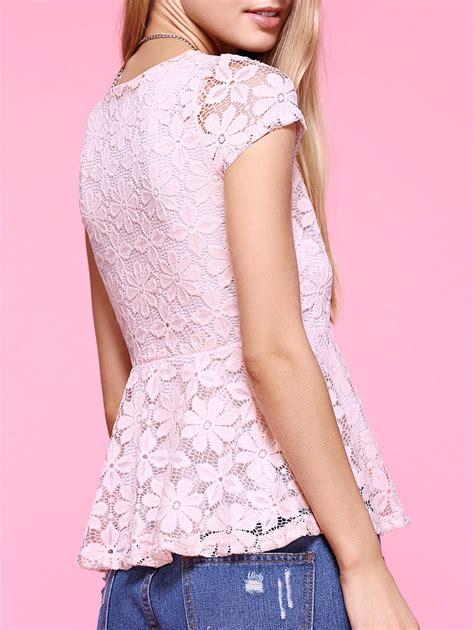 White Sweet Flowery M L Xl Blouse 31693 sweet lace floral blouse for in pink l sammydress