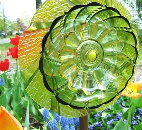 Glass Plate Garden Flowers Garden Plate Flower Glass Garden Garden Gift