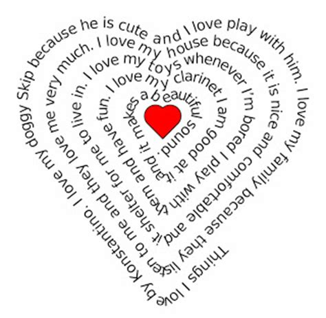 elementary technology lessons: heart shaped writing for