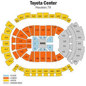 Toyota Center Number World Entertainment August 07 Tickets