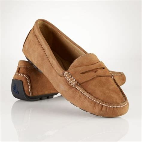 ralph loafer by ralph camilla nubuck loafer in brown