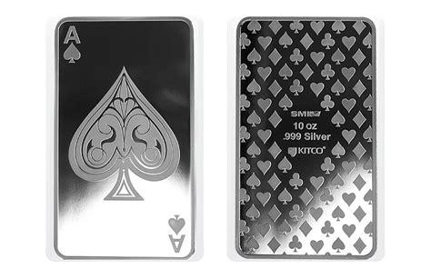 10 Oz Silver Bar - buy 10 oz silver bars ace of spades buy silver bars kitco
