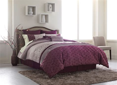 essential home 8 comforter set purple geo home