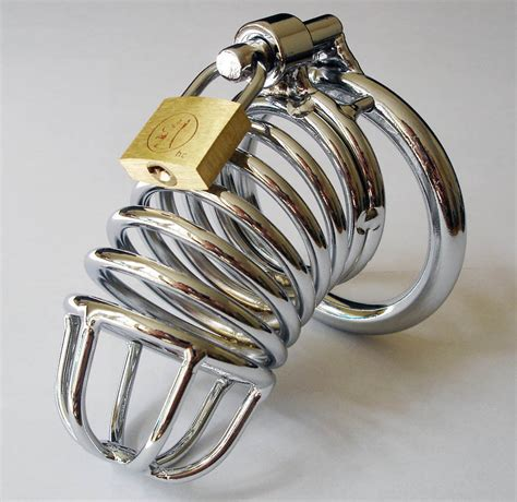 male chastity male chastity device steel cage bondage with 3 rings for