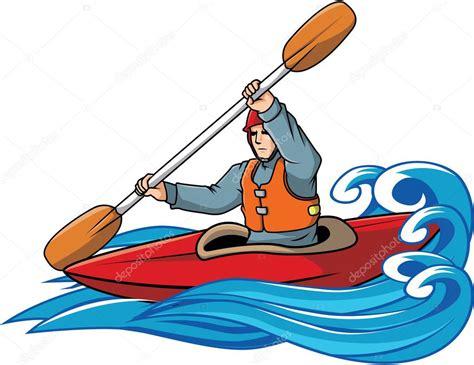 kayak clipart kayaking vector illustration design stock vector