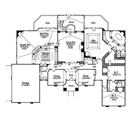 house plans with atrium in center atrium house plans house plans pinterest