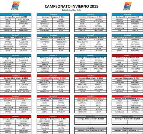 unafut anuncia calendario para el invierno 2015 y el